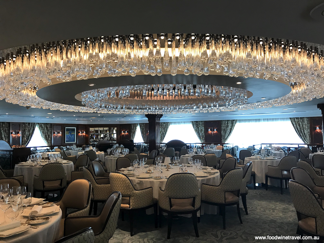 It took three weeks just to assemble the chandelier in the Grand Dining Room of Oceania Cruises' new-look Insignia