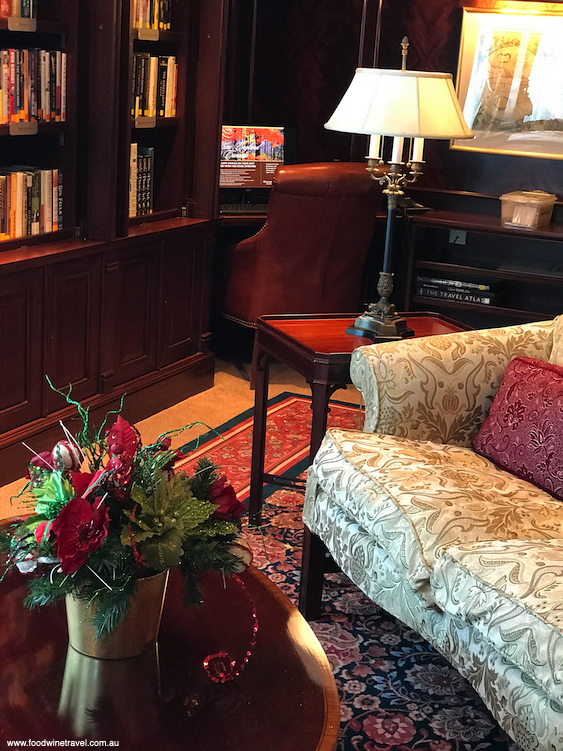 A quiet corner in the Library in which to read and relax.