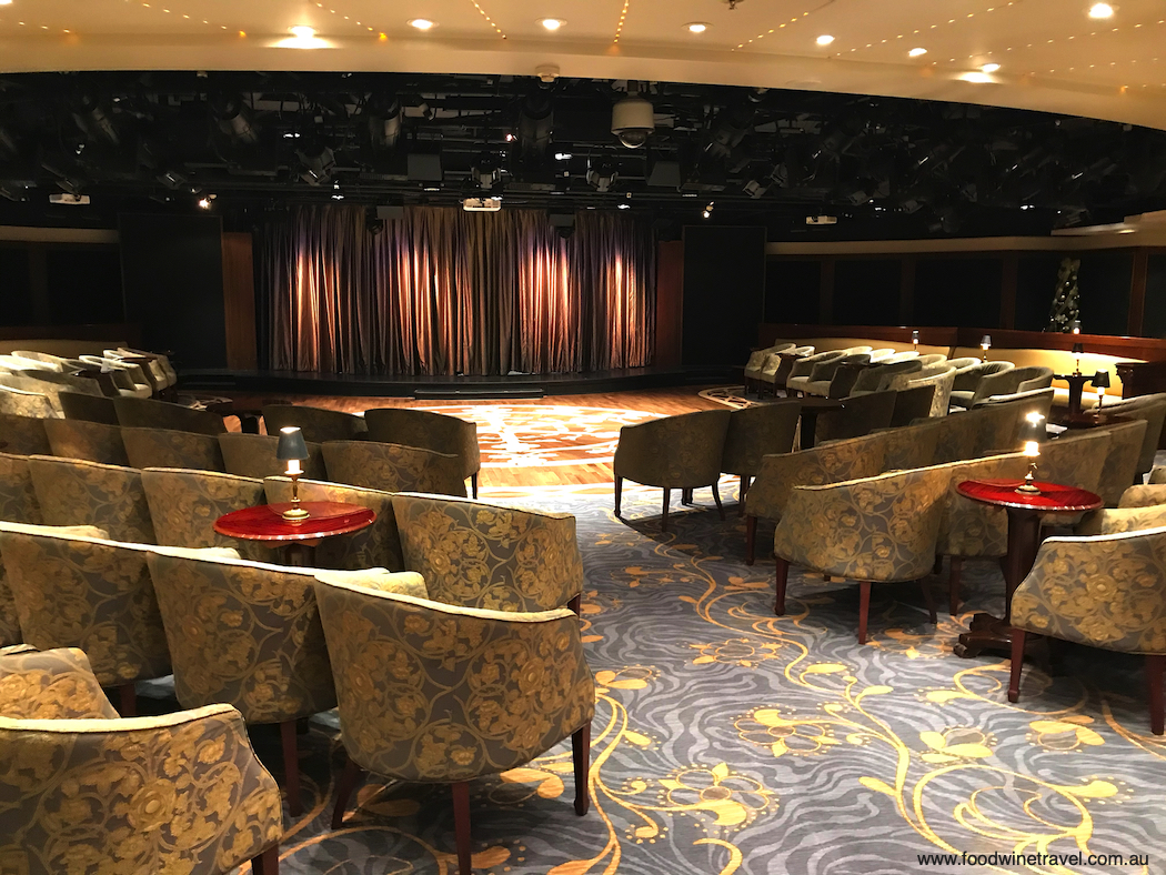 All the spaces on board, including the theatre, were completely refurbished.