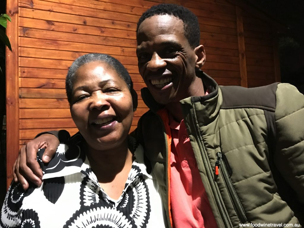 Antoinette Sithole, sister of Hector Pieterson, with Lebohang Malepa, owner of Lebo's Soweto Backpackers.