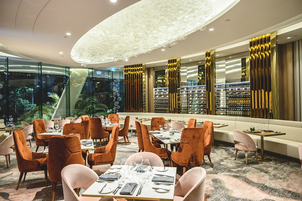 The elegant Signature restaurant in South Bank's Emporium Hotel.