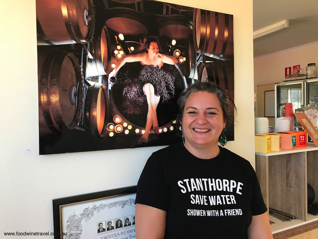 Robert Channon winemaker Paola Cabezas knows what community spirit is all about :-)