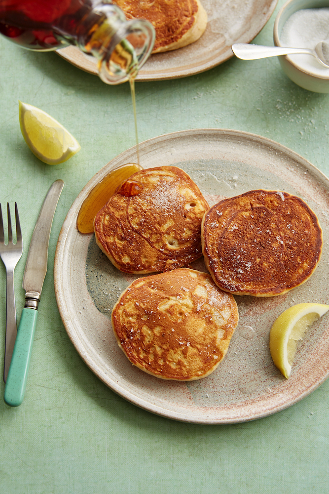 Recipe for Pear & Ginger Pancakes, from Vegan(ish), by Jack Monroe.