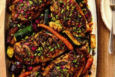 Moroccan Chicken Traybake recipe from Gordon Ramsay's Quick and Delicious: 100 Recipes In 30 Minutes Or Less.
