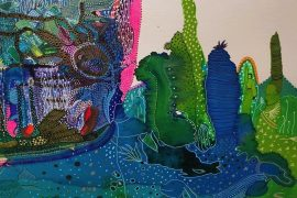Detail from Zokki's Ocean Secrets, on display at Zokki B Gallery and Studio