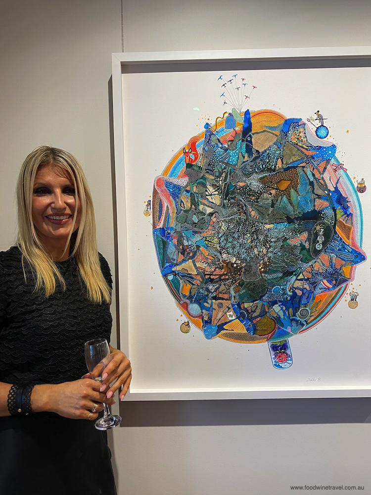 Zokki at the opening of her new gallery, Zokki B Gallery and Studio.