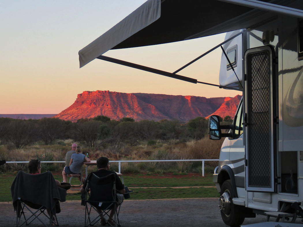 Kings Canyon Resort, Northern Territory. Sundowners are an institution on the road.