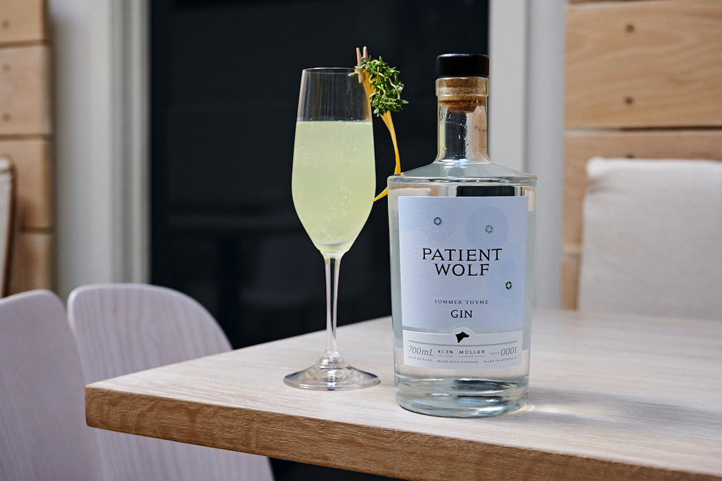 Patient Wolf Summer Thyme Gin Summer 75 Spritz cocktail. Photo: Dean Schmideg