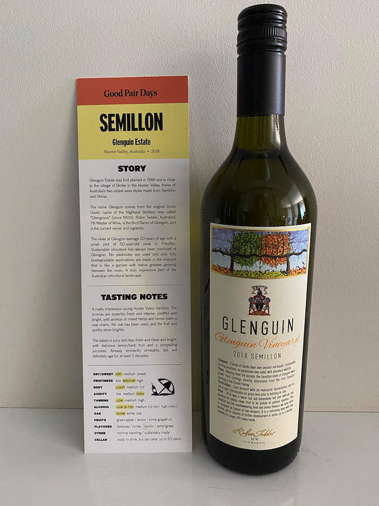 Glenguin Estate Semillon with Good Pair Days' recipe for Thai Snapper.