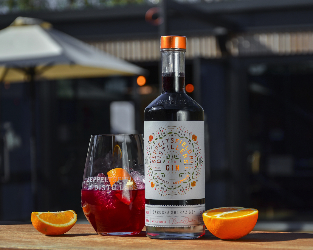 Seppeltsfield Road Distillers Barossa Shiraz Gin Black Cherry Drop cocktail