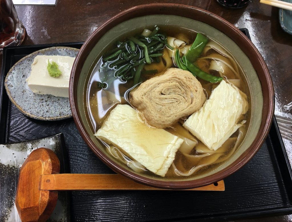 Yuba adds a special touch to noodle dishes in Nikko.