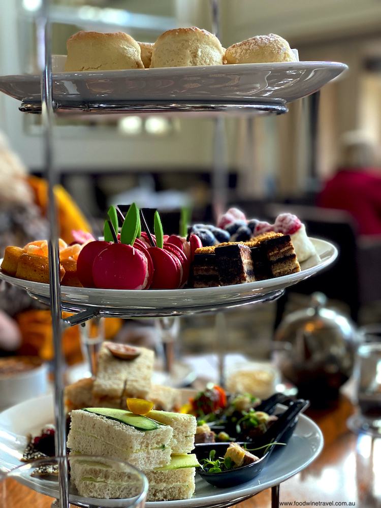Afternoon tea at the Hyatt Hotel Canberra
