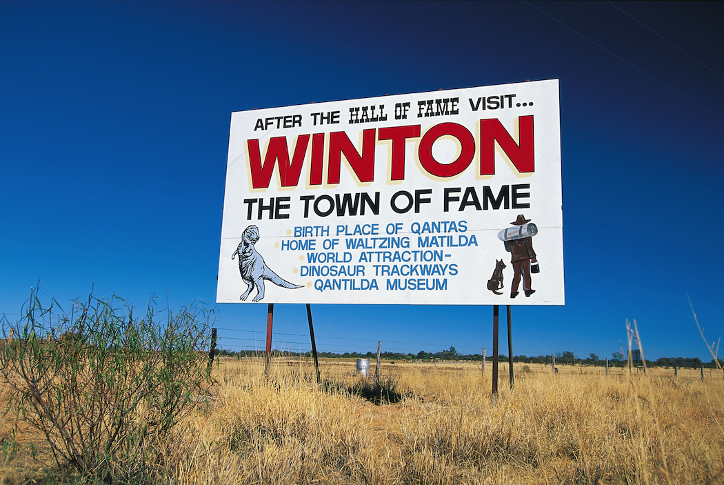 Winton is home to the Waltzing Matilda Centre, Australian Age of Dinosaurs Museum and Lark Quarry Conservation Park.