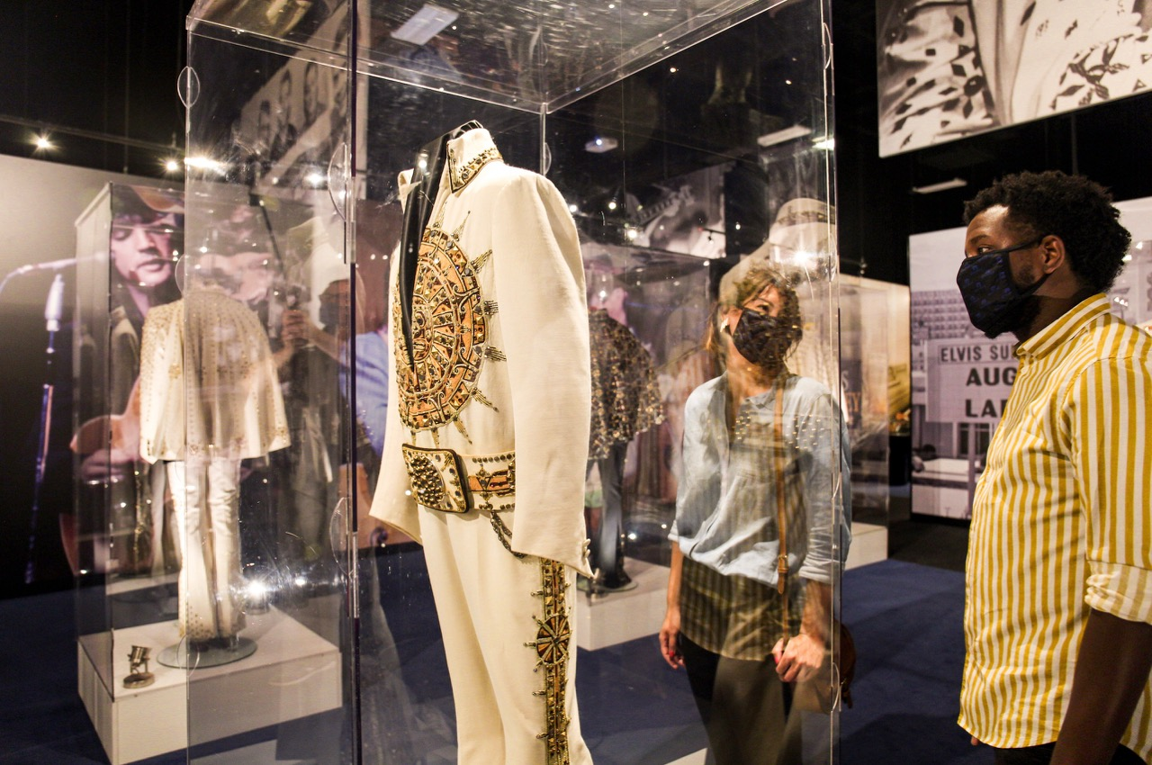 Social distancing at Graceland's entertainment and exhibition complex.