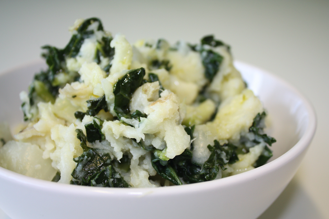 Colcannon: mashed potatoes mixed with cabbage. Photo by VegaTeam.