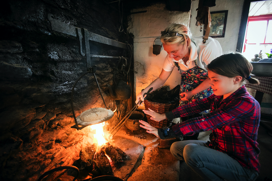 Irish homes would traditionally be filled with the smell of baking bread over an open fire.