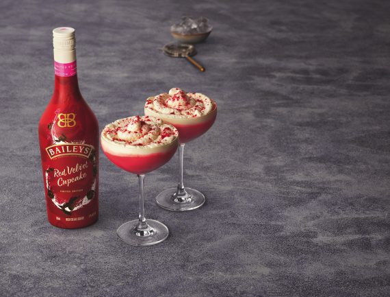 Baileys Red Velvet Cupcake: indulgent and festive.