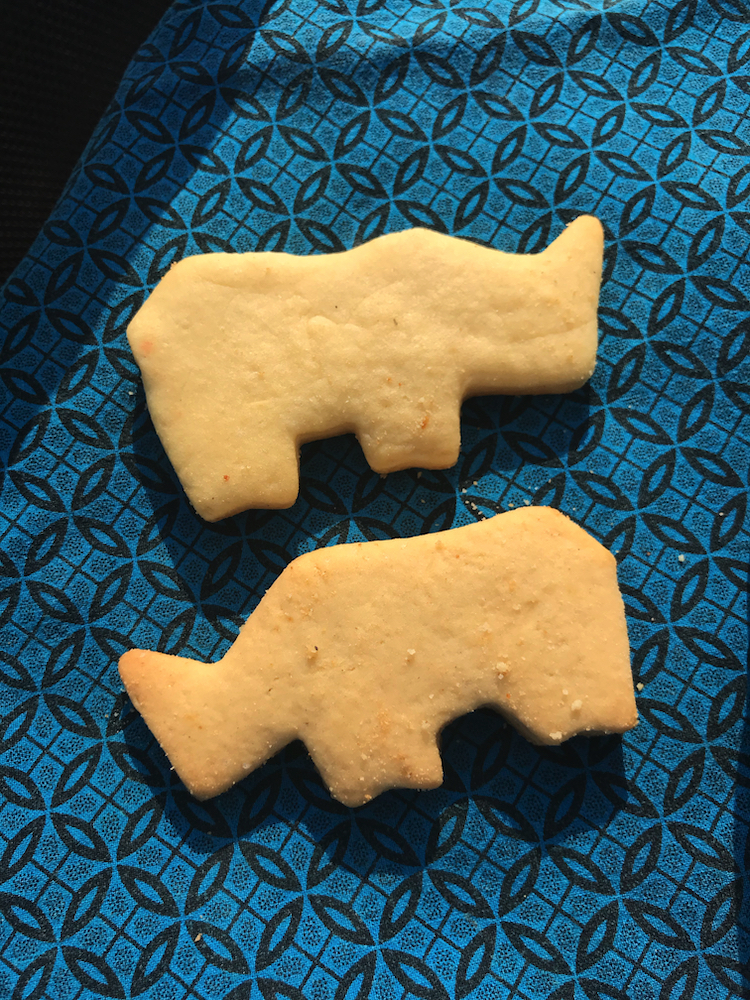 How cute are these rhino-shaped cookies?