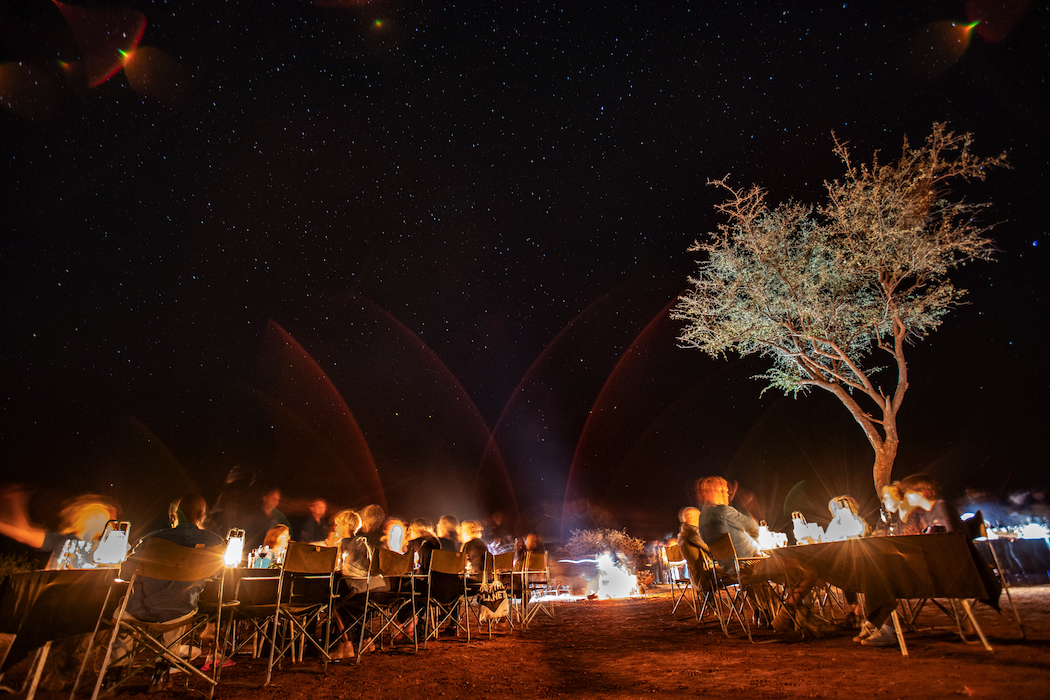 Dinner under the stars is incredibly special.