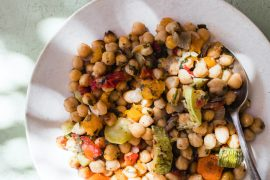 Recipe for Baked Chickpeas, from Ikaria: Food and Life in the Blue Zone.