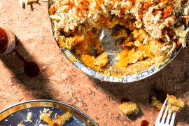 Recipe for Butternut pumpkin mac 'n' cheese, from Vegan Junk Food.