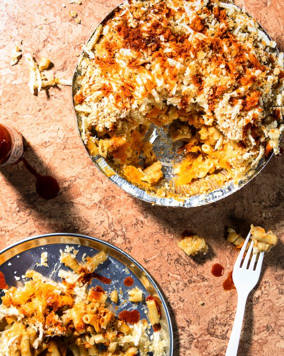 Recipe for Butternut pumpkin mac 'n' cheese, from Vegan Junk Food.