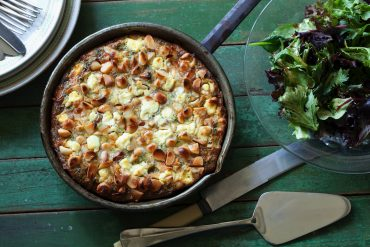 Try this delicious recipe for Sweet Potato, Feta, Pancetta and Macadamia Frittata.