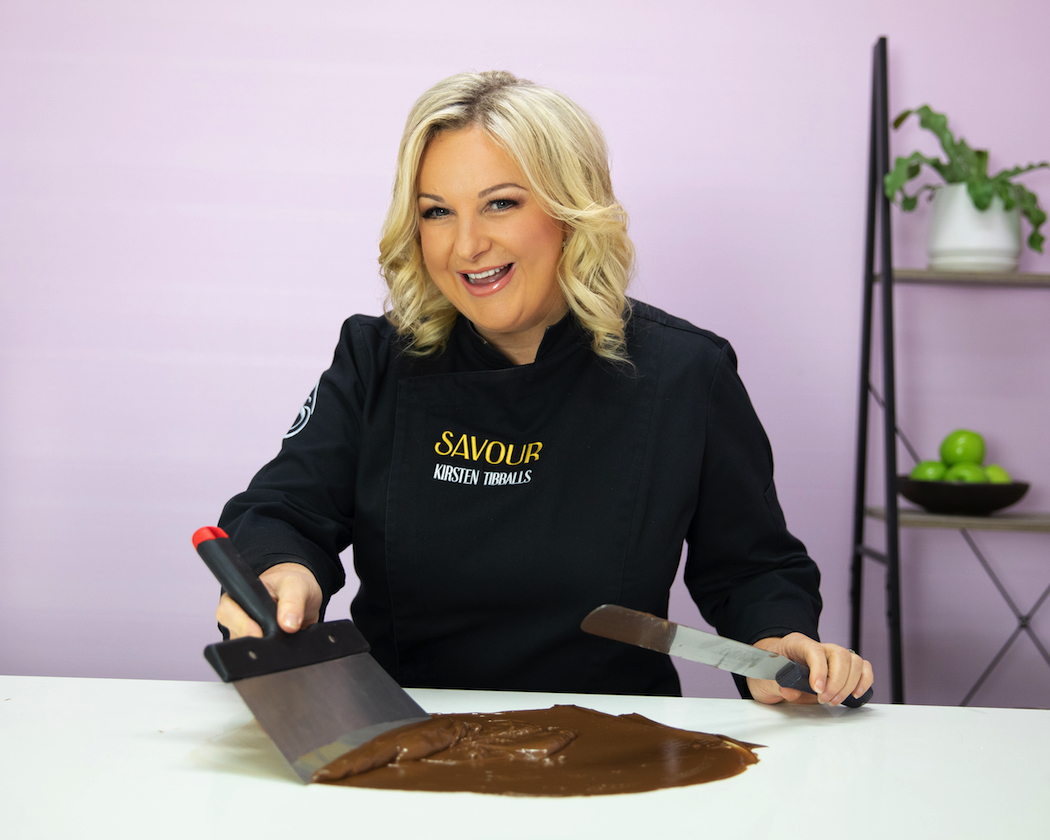 "Kirsten Tibballs: proclaimed by MasterChef Australia as ""the Queen of Chocolate""."