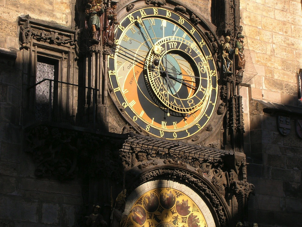 Prague's Astronomical Clock. Image by Susbany from Pixabay.