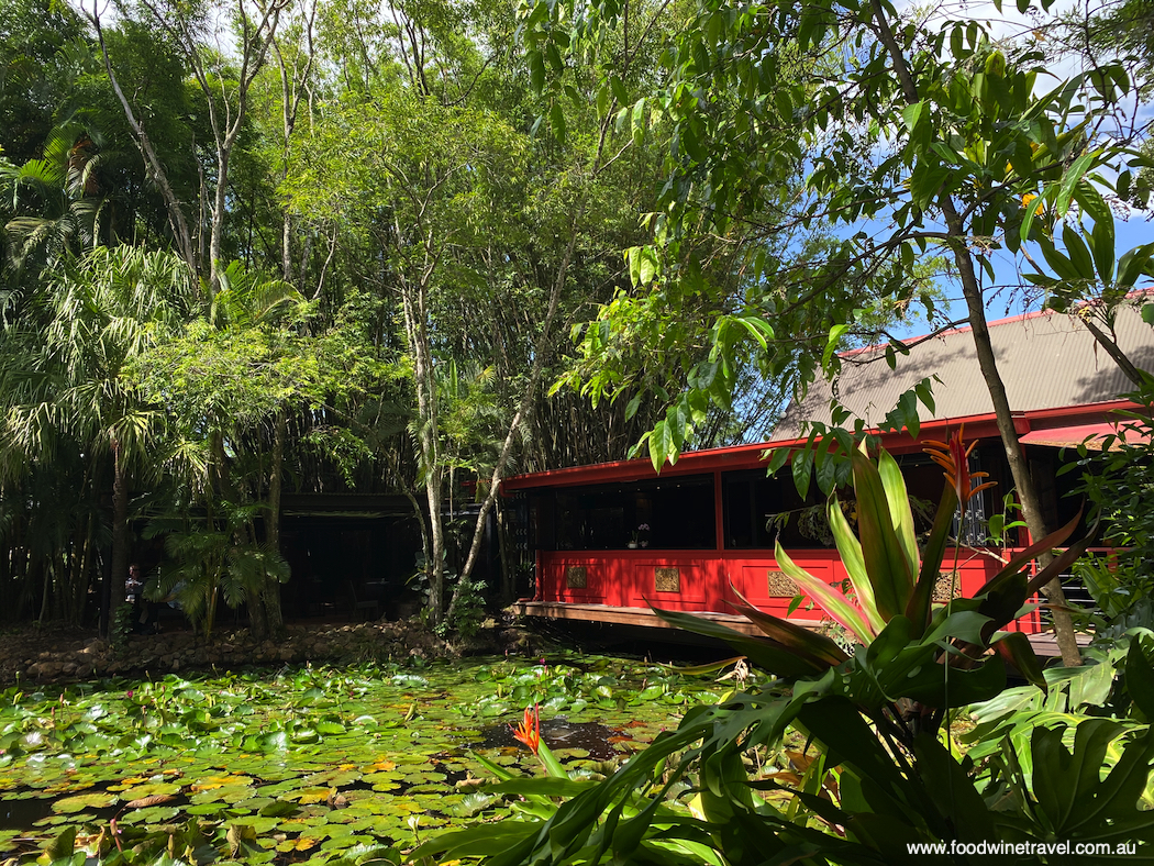 The Spirit House restaurant is set in lush tropical gardens nestled around a tranquil pond.
