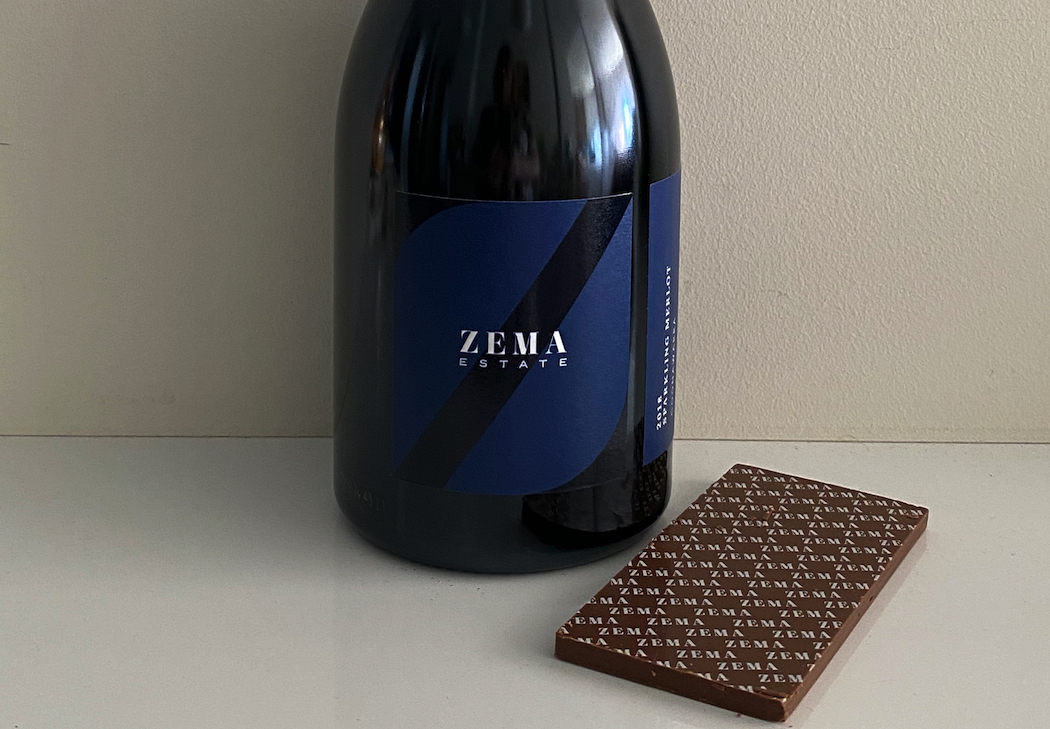 Zema Estate's first Sparkling Merlot goes beautifully with chocolate.