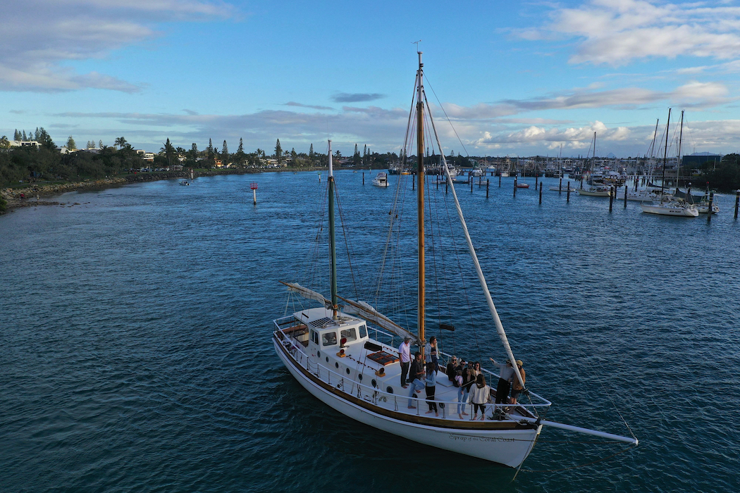 Saltwater Eco Tours on a restored century-old sailing vessel.