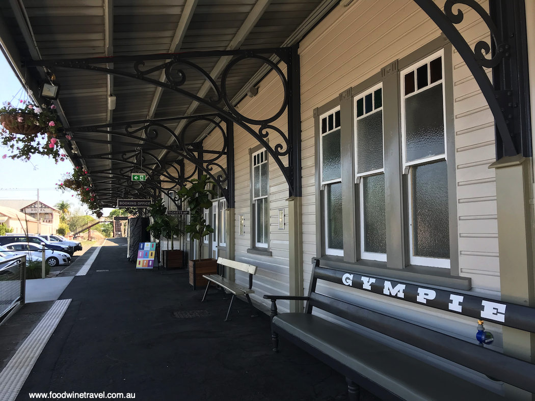 Indulge in lunch at Gympie's historic station.