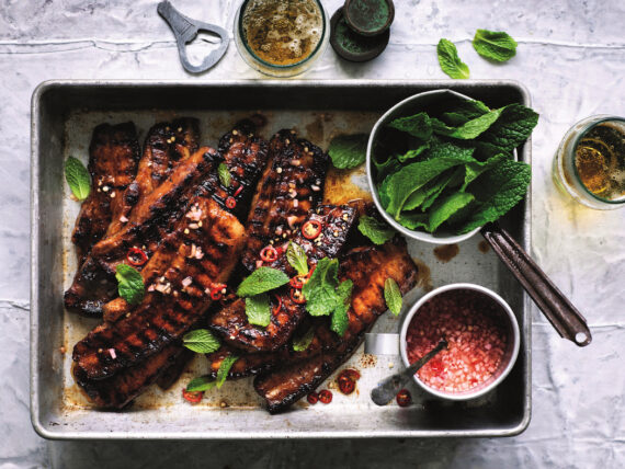 Adam Liaw's Quick Barbecued Pork Belly, from Good Food New Classics.