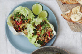 Minced Tofu Lettuce Cups, from 28 Days Vegan.