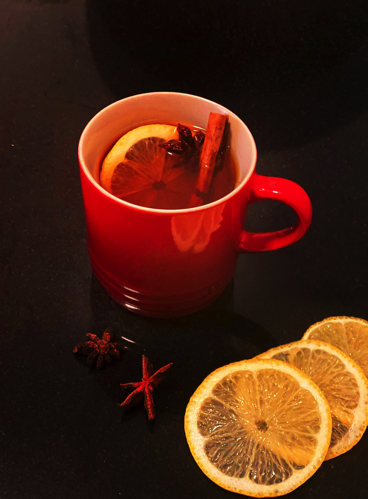Just the shot on a chilly day: Hot Tea Toddy made with Yorkshire Tea and Australian Four Pillars Gin.