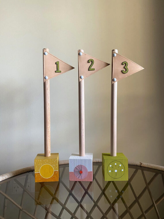 Cute café table numbers from Stix & Flora.