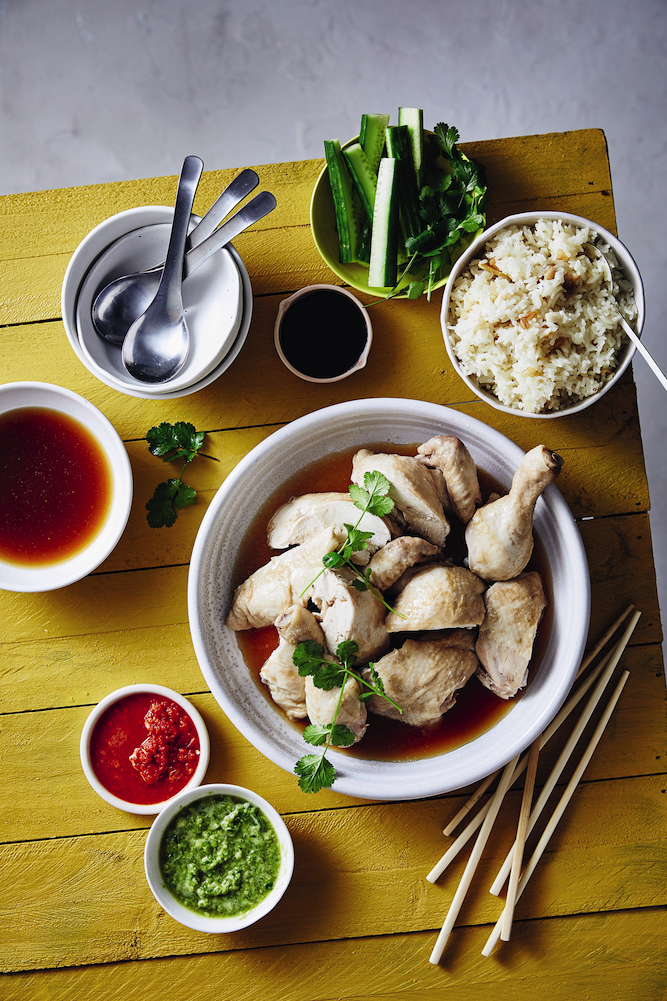 Recipe for Hainanese Chicken Rice from The Slow Cook by Justine Schofield.