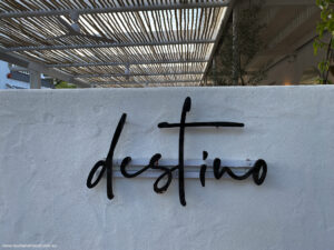 Destino was inspired by the beach bars of Europe.