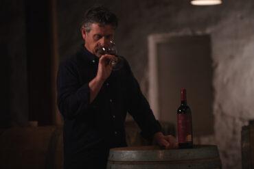 Grant Burge winemaker Craig Stansborough tasting Filsell Old Vine Shiraz.